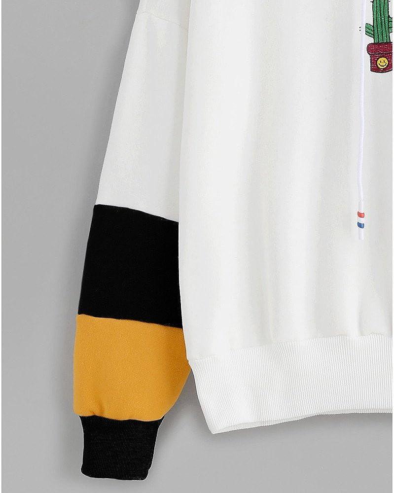 Xmiral Damen Hoodies Baumwolle Mode Einfarbig Kleidung Pullover Mantel Hoody Sweatshirt Schwarz1