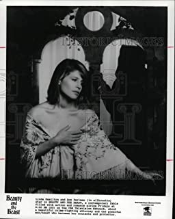 Historic Images - 1990 Press Photo Linda Hamilton and Ron Perlman in Beauty and The Beast