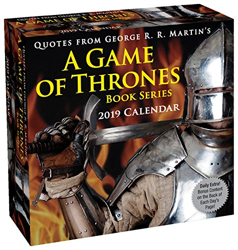 Quotes from George R. R. Martin's a Game of Thrones Book Series 2019 Calendar