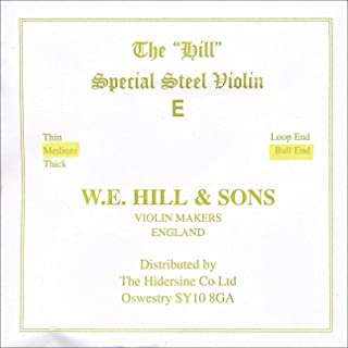 Hill 4/4 Violin E String - Medium Gauge - Steel - Ball-End