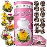 Teabloom Blühende Rosenblüten Tee Geschenk-Set - 12 Zusammengestellte