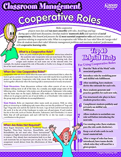 Kagan Cooperative Learning Roles Smartcard (TCR)