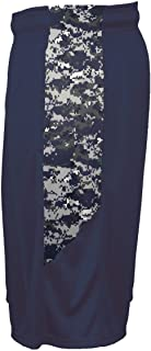 Badger Sport Adult 4X Navy Blue Digi-Camo Athletic Shorts with Pockets Wicking Performance Moisture Management