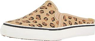 حذاء رياضي للسيدات من Keds Double Decker Mule Leopard لون بني فاتح، مقاس 9 M US