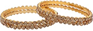 Archi Collection Traditional Party Crystal Bracelet Bangle (4 pc)