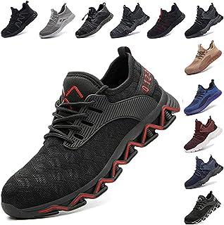Zapatos De Seguridad para Hombre con Puntera De Acero Mujer Calzado De Trabajo Zapatos De Deportivos Transpirables Constru...