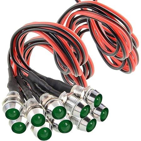 Fuel Tank Cap Details about  /Signal Indicator Light DC 12V 12mm Green LED Aluminum Shell