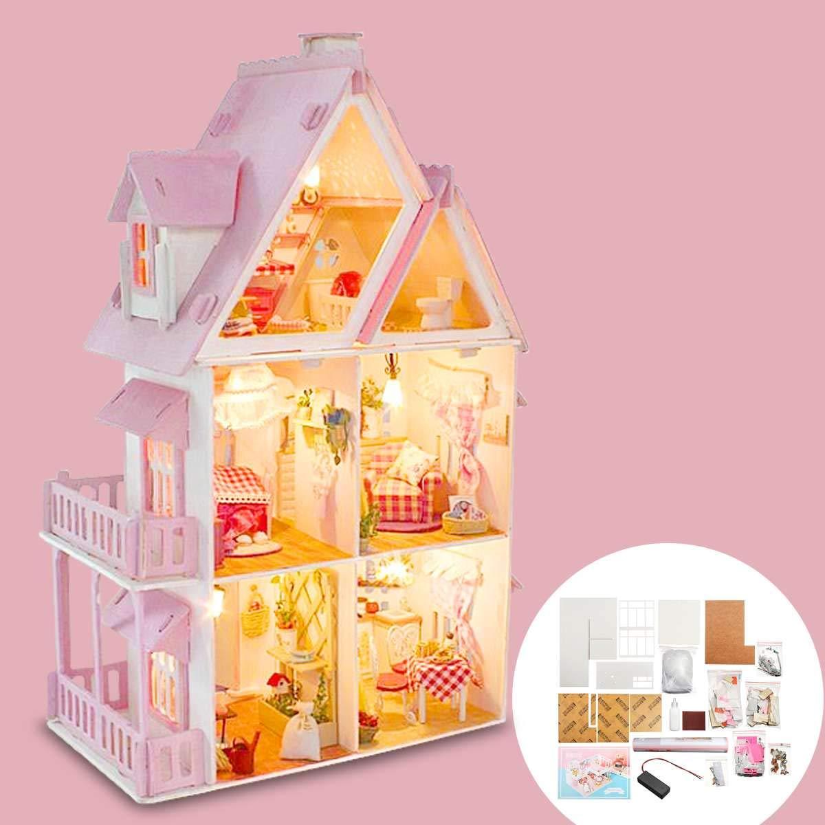 Amazon.es: DIY Casa De Muñecas De Madera Miniatura Caja Hecha A Mano Luz Led Muebles De Casa De Muñecas En Miniatura Accesorios De Casa De Muñecas para Niños Regalo: Juguetes y juegos