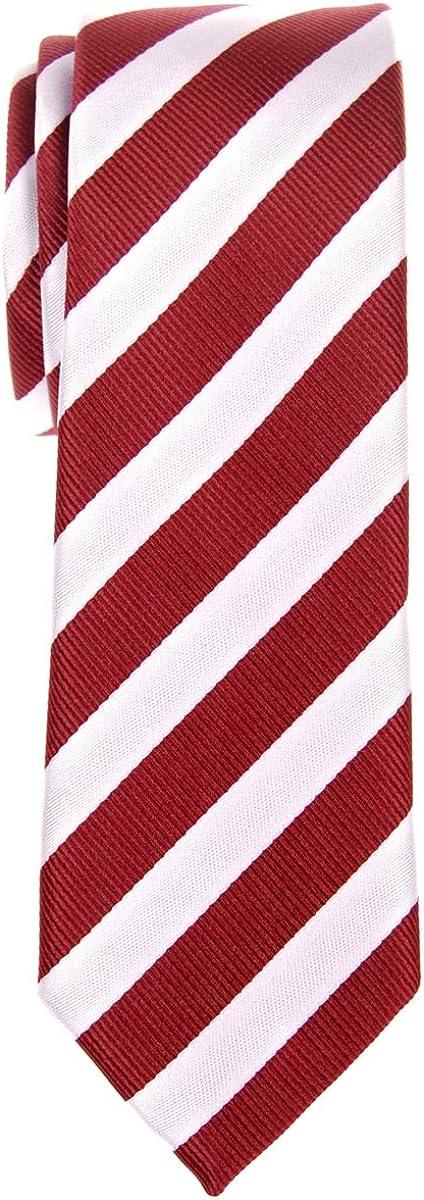 Retreez Exquisite Regimental Stripe Woven Microfiber Skinny Tie