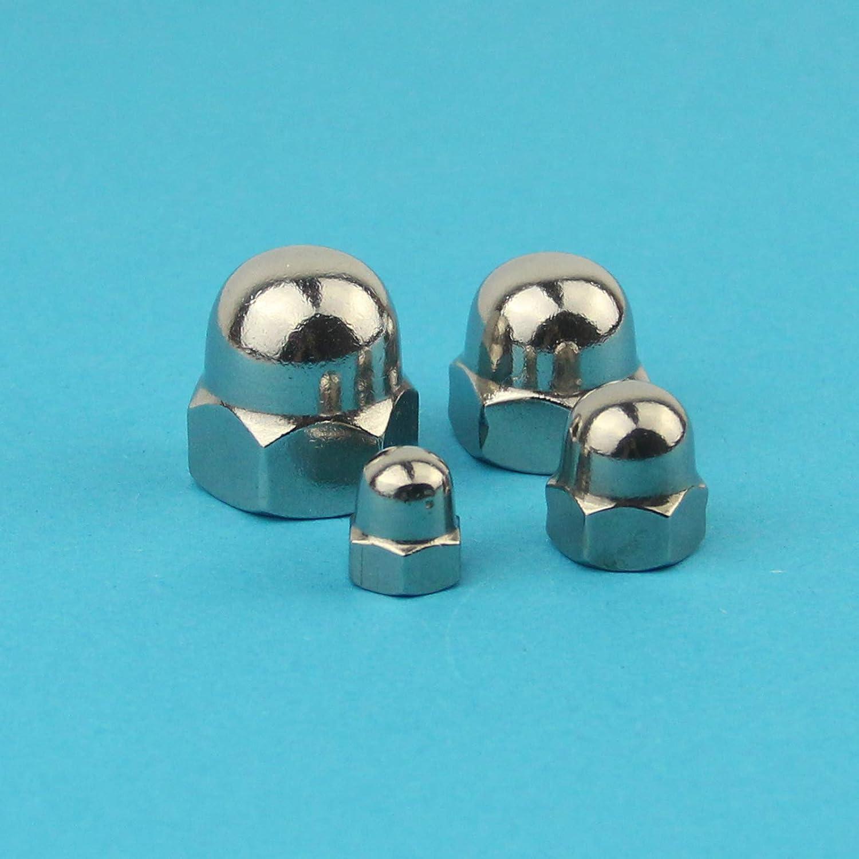 - DIN 1587 10 St/ück Eisenwaren2000 M5 Sechskant-Hutmuttern hohe Form rostfrei Edelstahl A2 V2A