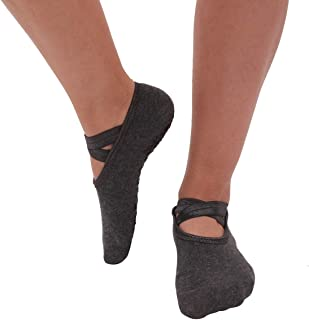 YOUGUE Yoga Socks for Women Non-Slip Grips & Straps, for Pilates, Ballet, Dance, Barefoot Workout