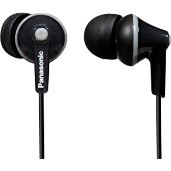 Panasonic Wired Earphones 3.5 mm Jack Black (RP-HJE125E-K)