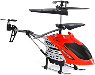 2019HoHo HHoo88 Remote Control Helicopter for Kids Flying Helicopter RC Alloy Drone with Remote Control for Adults (Red)