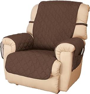 OakRidge Deluxe Microfiber Recliner Chair Cover, Chocolate