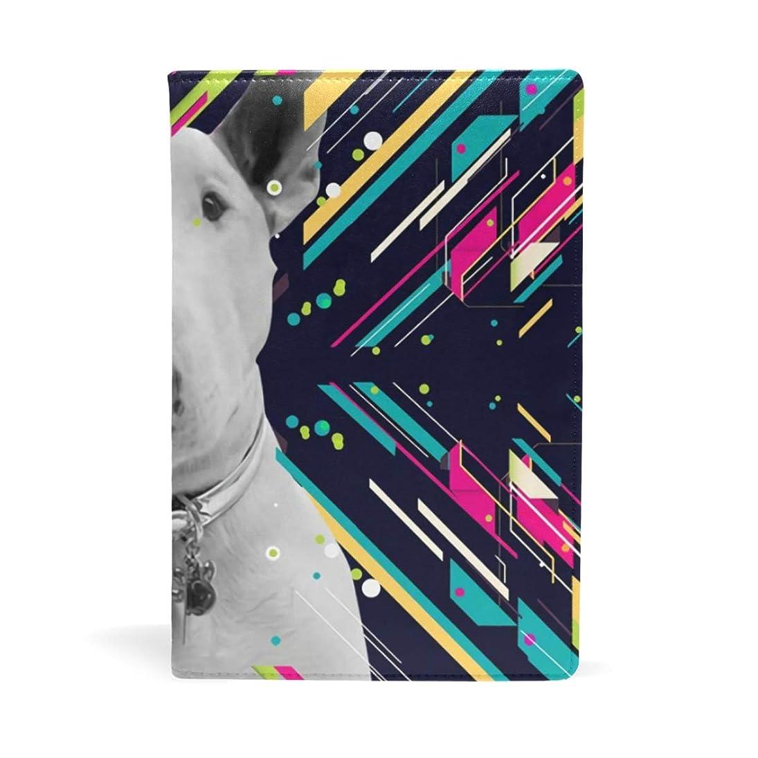 咳情緒的遮るブックカバー 文庫 a5 皮革 レザー ブルテリア 文庫本カバー ファイル 資料 収納入れ オフィス用品 読書 雑貨 プレゼント