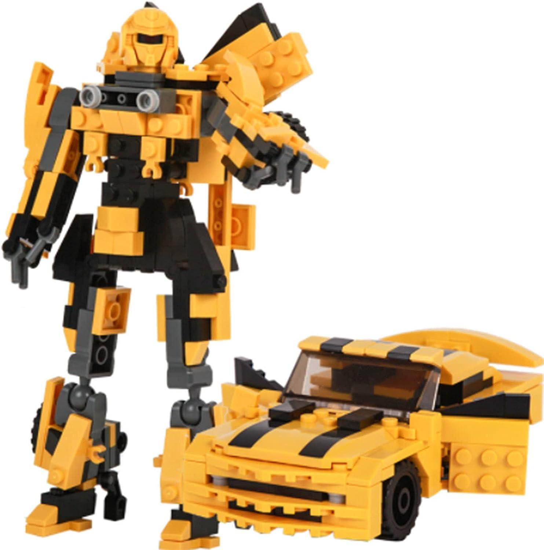 LUSTAR 2-en-1 Bloques De Construcción Juguetes para Niños 8-12 Años Old-225PCS Transformers Juguete Bumblebee Toys para 6 7 8 9 10 11 12 Años Regalo De Edad