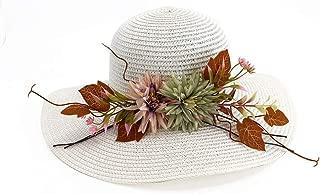 Sun Hat for men and women Sun Hat Women's Floral Wide-brimmed Hat Summer Bohemian Beach Hat