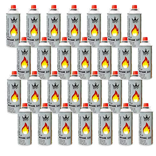 Mianova Gaskartuschen 227g Butan Gas | Bunsenbrenner Campingkocher Kocher Gaskocher Camping Gasheizung Grill Gasbrenner Lötlampe Set 28 Gasflaschen