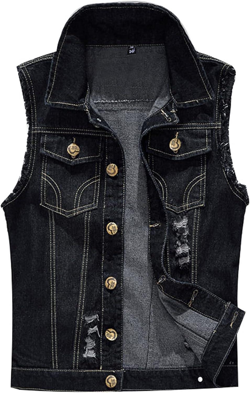 Mens Vintage Slim Sleeveless Gilets Waistcoat Casual Distressed Lapel Jacket Top Vest