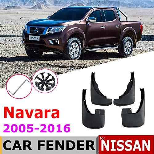 unknow Schmutzfänger, für Nissan Navara Brute Frontier D40 2016~2005 Kotflügel Schmutzfänger Spritzklappen Kotflügel Zubehör 2009 2008 2007 2006