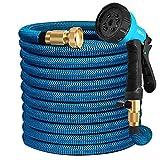 HB life Tuyau d'arrosage Tuyau Flexible Tuyau d'eau Tuyau Extensible à Multifonction Elastique Flexible pour Irrigation et...