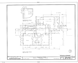 Historic Pictoric Blueprint Diagram HABS Mass,10-NANT,25- (Sheet 2 of 10) - Swain-Mitchell House, 1 Vestal Street, Nantucket, Nantucket County, MA 44in x 32in