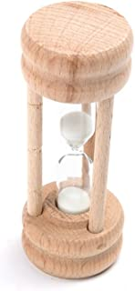 Fox Run Sand Timer, 1.75 x 1.75 x 4.25 inches, Brown