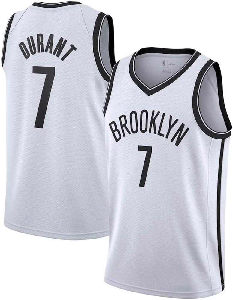 LDFN Jersey Baloncesto 2020 Temporada de Baloncesto Jersey Kevin Durant N/º 7 Brooklyn Nets de poli/éster Transpirable Sudor Absorbente Jersey es exactamente el Mismo Que el Original