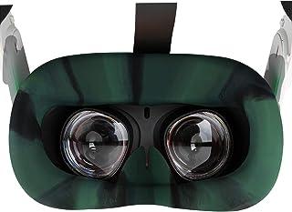 NEWZEROL VR silikon ansiktsskydd kompatibelt med Oculus Quest 2, svettsäkert lätt halkskydd tvättbar ersättnings ansiktsku...