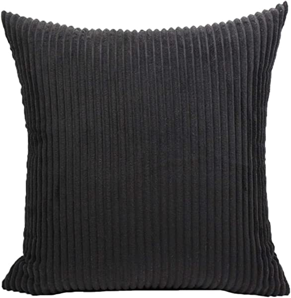 Lehaha Nordic Style Solid Color Decorative Throw Pillow Case Corduroy Soft Velvet Striped Square Cushion Cover Home Decoration