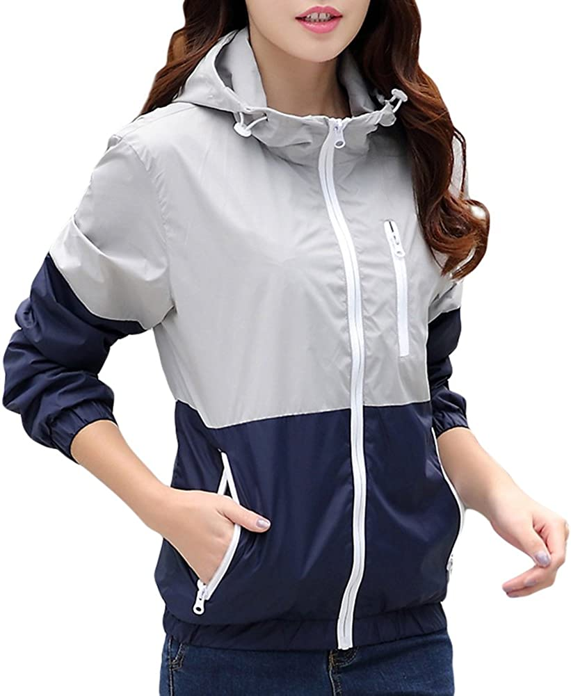 Happyyip Womens Light Weight Outdoor Sports Max 87% OFF O Discount mail order Windbreaker Hooded