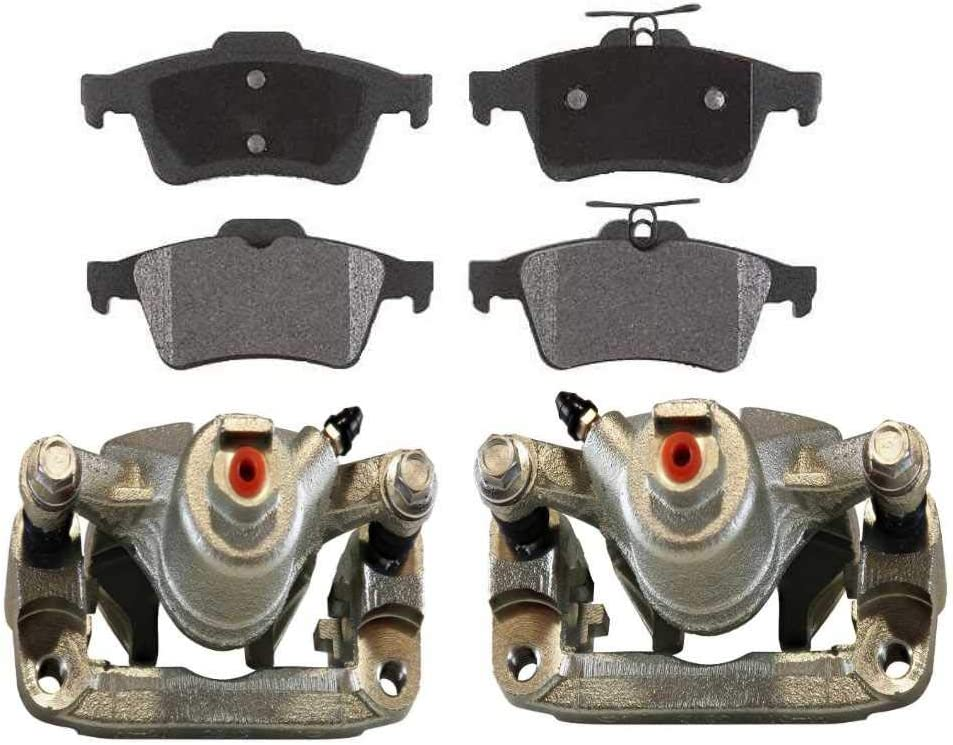 AutoShack Courier shipping free shipping BCPKG0006 Rear Brake Calipers Ceramic Very popular and Pads Replace