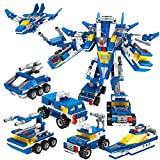 AIVIAI Robot STEM Toy Building Bricks Toys Building Kit (6 in 1) (553 Pieces)