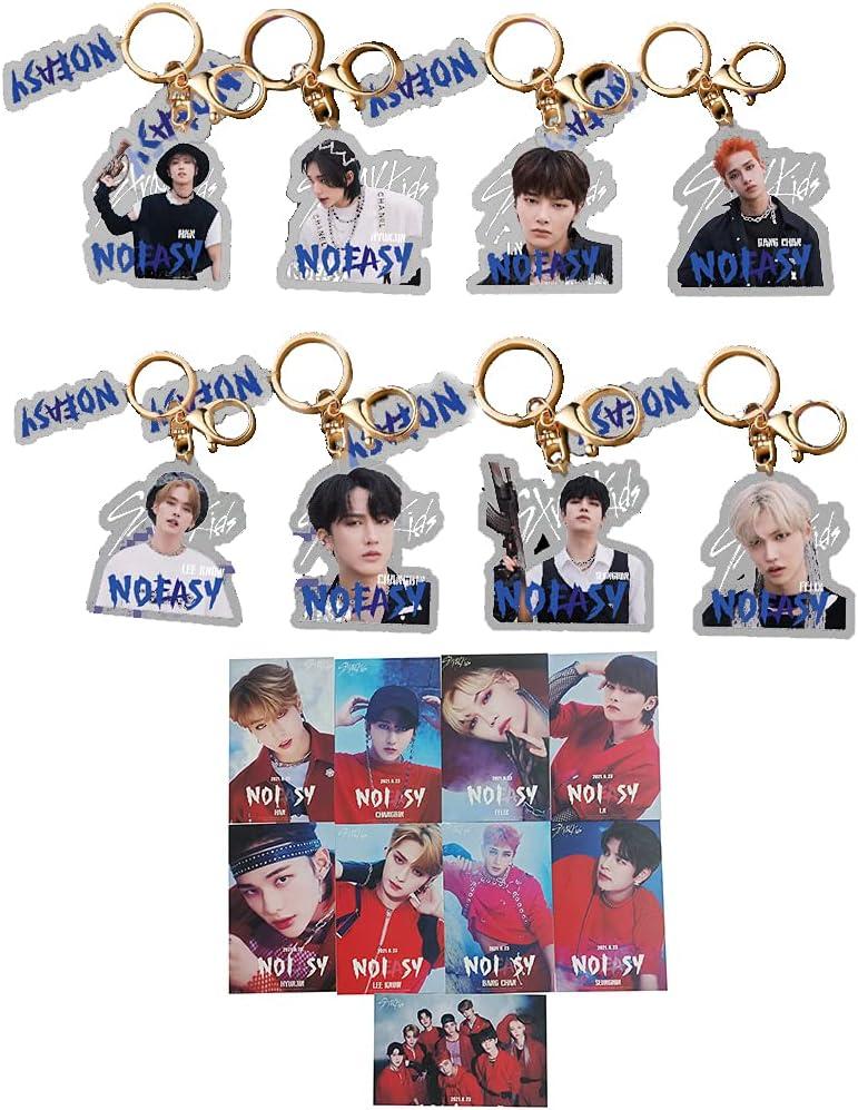 KPOP Bargain Stray Kids trend rank Album NOEASY Cards LOMO SKZOO Keychain A +