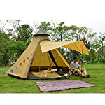 TentHome Waterproof Double Layers Teepee Tent Outdoor Camping 3.1M/10ft Family Tent Pyramids Indian Tent With fixed… 7
