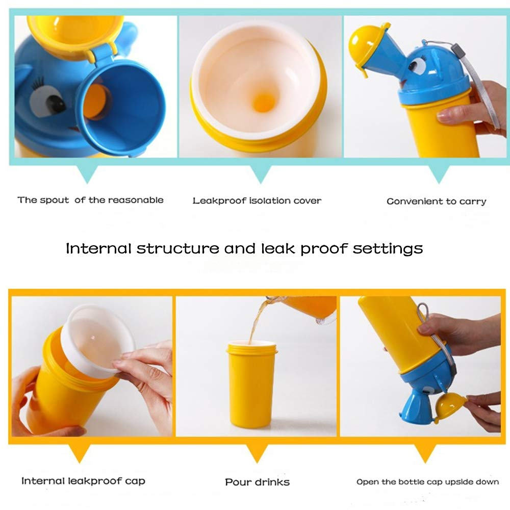 BABABA Emergency Urinal Traveling Toilet Portable Toilet Road Travel Children's Urinal for Travel and Children Toilet Urination Training (Boy-Yellow)