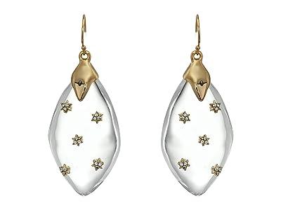 Alexis Bittar Spike Studded Wire Drop Earrings (Clear) Earring
