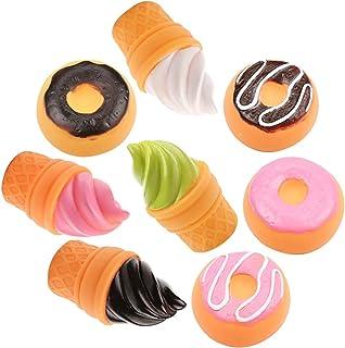 FunPa 8PCS Squishy Toy Ice Cream Doughnut Bathtub Toy Bathroom Toy Party Favor for Kids