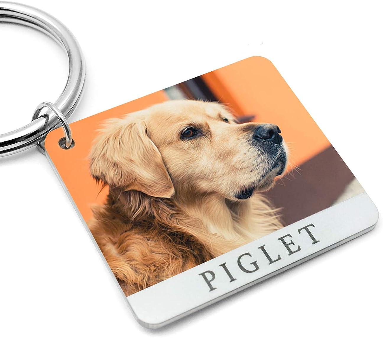 Custom Keychain,Picture Keyring,Cat Dog Photo Keychain,Pet Keychain,Personalized Pet Portrait Keychain,Dog Lover Gifts