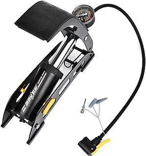 WOTOW - Bomba de Aire para Piso de Bicicleta, Inflable rápido, portátil, Bomba de Aire de Alta presión, válvula Schrader Presta con Calibre preciso para Bicicleta de Carretera MTB
