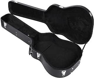 "Topeakmart Dreadnought Acoustic Hardshell Guitar Case 41"" Guitar Carry Case Fits Most Acoustic Guitars with Key Lock Black"