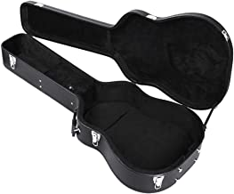 "Topeakmart Dreadnought Acoustic Hardshell Guitar Case 41"" Guitar Carry Case Fits Most Acoustic Guitars with Key Lock Black"