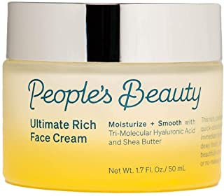 People's Beauty Ultimate Rich Face Cream | Antioxidant-Packed Cream to Smooth, Plump & Protect All Skin Types | Quick-Absorbing Hydration with Tri-Molecular Hyaluronic Acid | 1.7 oz