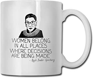 RBG Notorious Coffee Mug Ruth Bader Ginsburg Feminist Mugs for Women Lawyers Law Students Judges White Cera...