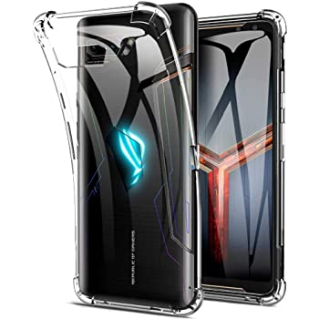 Soezit Bump Side Air Cushion Back Cover for Asus ROG Phone 2 [Protective + Anti Shock Proof CASE], Dual Layer Transparent Ultra Clear Finish