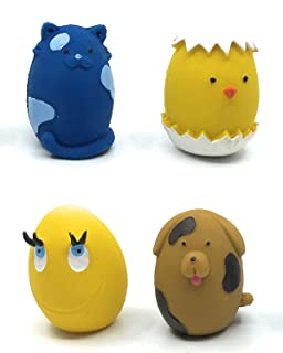 Set of 4 Eggs - Squeaky Dog Toys - Extra Small (2.5