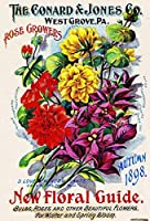 バラ栽培者花種子錫サインヴィンテージノベルティおかしい鉄の絵の金属板