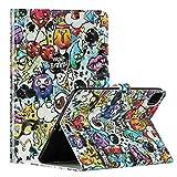 Miagon Tablet Coque Cover pour iPad Pro {11 Pouces} 2020,PU Cuir 3D Motif Flip Portefeuille Case avec Fonction de Support Porte-Cartes de Crédit Antichoc,Graffiti