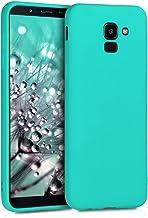 kwmobile Funda Compatible con Samsung Galaxy J6 - Carcasa de TPU Silicona - Protector Trasero en Turquesa neón