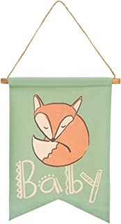 tag Sleeping Fox Baby Scroll Hanging Wall Decoration